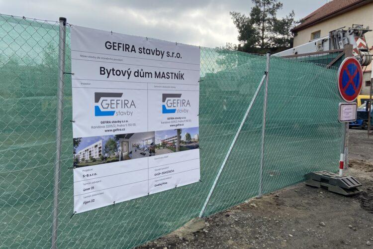 Výstavba nového bytového domu Mastník byla zahájena